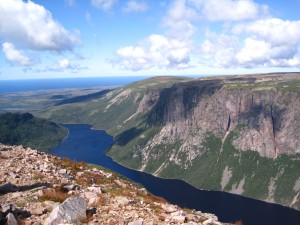 View from the top of Gros Morne Mountain