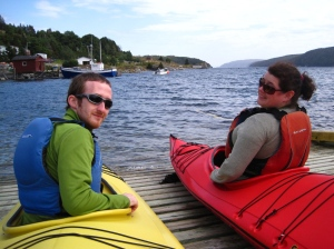 Angus and Jenna getting ready to go kayaking